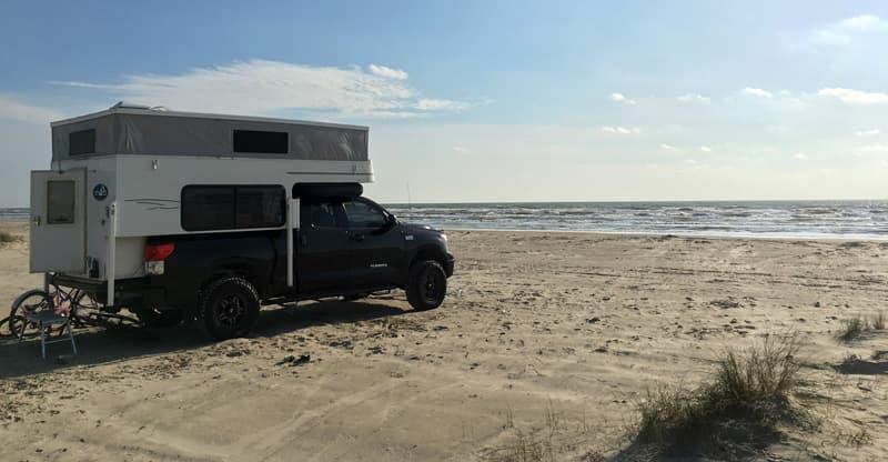 Beach Camping, Phoenix Custom Camper