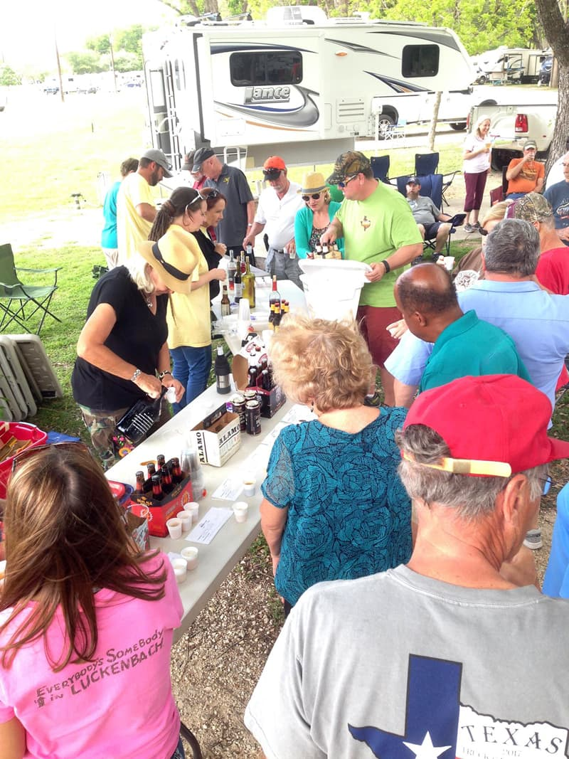 Beer and wine tasting at Texas Rally