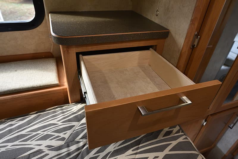 Bigfoot 10.4 Cabover Passenger Side Drawer Table
