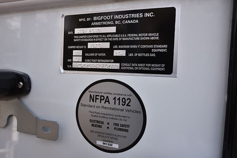 Bigfoot 10.4 Weight Sticker
