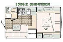 Bigfoot Camper floorplan 15C8.2 short box