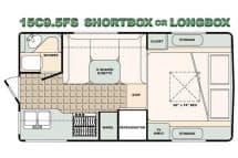 Bigfoot Camper floorplan 15C9.5FS