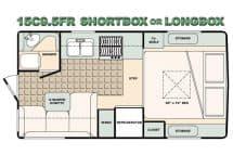 Bigfoot Camper floorplan 15C9-5FR short or long