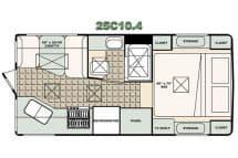 Bigfoot Camper floorplan 25C10.4