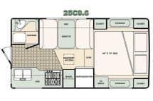Bigfoot Camper floorplan 25C9.6