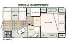 Bigfoot Camper floorplan 25C9-4 short box