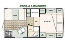 Bigfoot Camper floorplan 25C9.4 Long Box