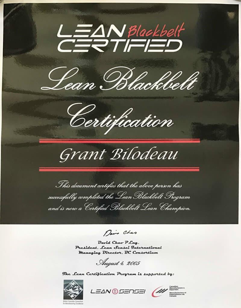 Lean Blackbelt, Grant Bilodeau