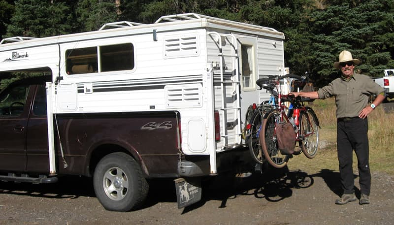 Bikes On Back Camper Exploration
