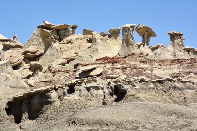 Bisti Wilderness unique rocks