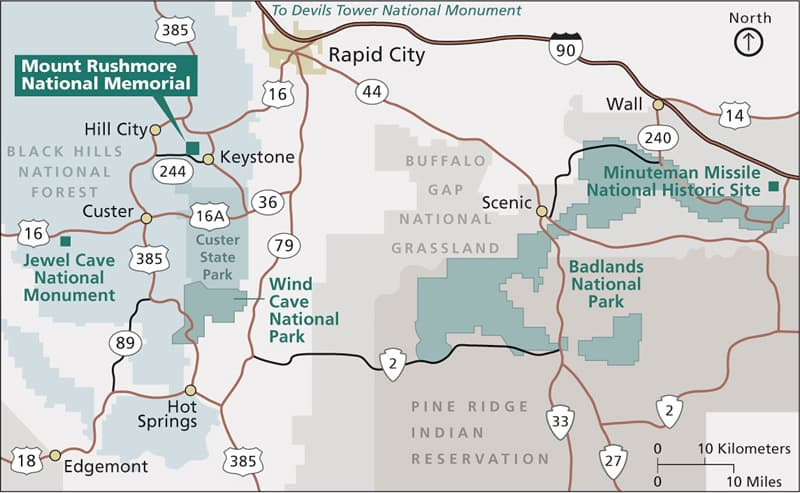 Black Hills Badlands Map
