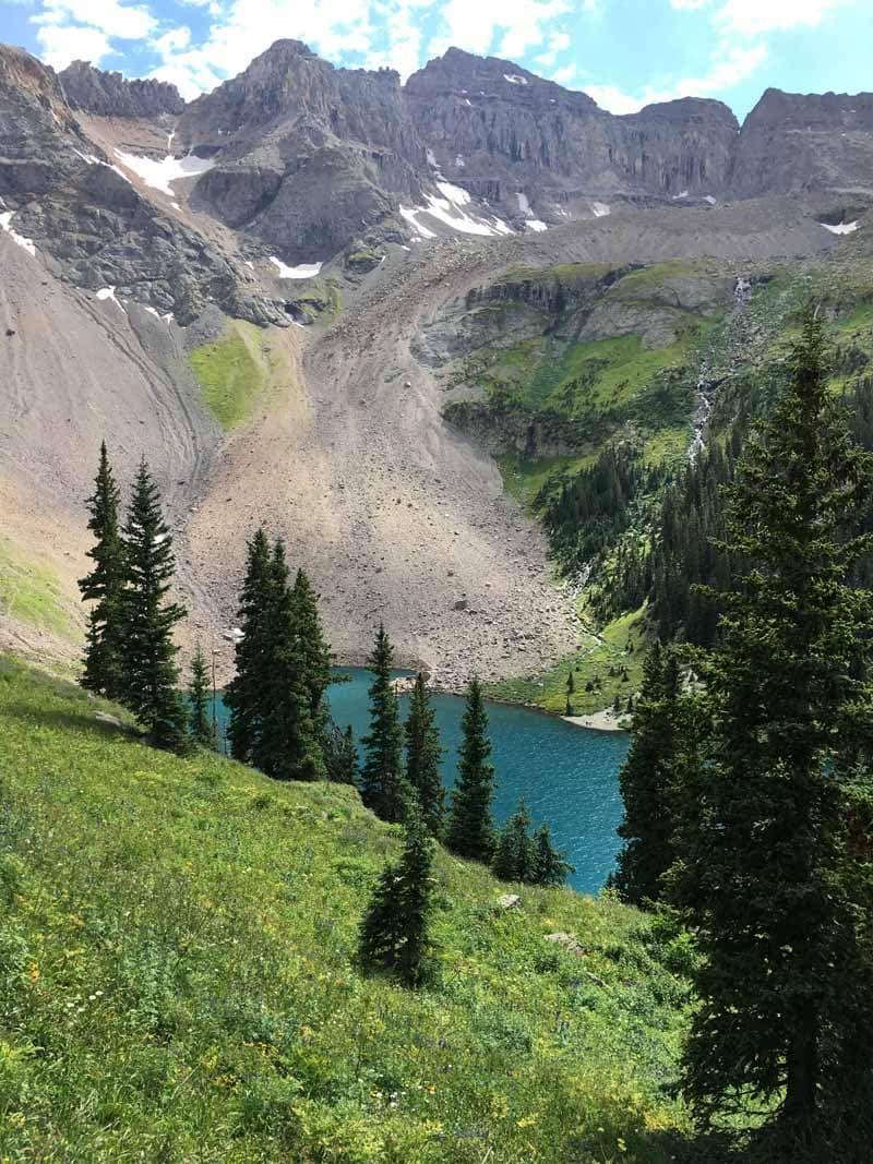 Blue Lake Near Ridgeway Colorado Sundt