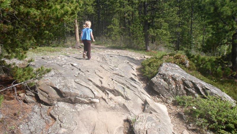Bluerock campground trail