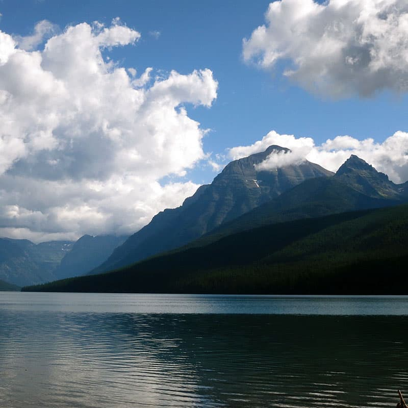 Bowman Lake, west side of Glacier National Park