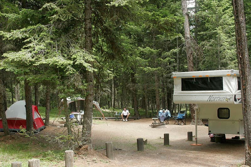 Bowman Lake Campsite with Northstar pop-up camper