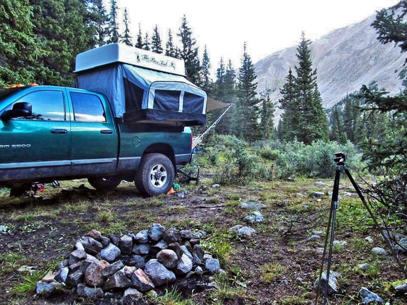 Box Tent on Ram truck