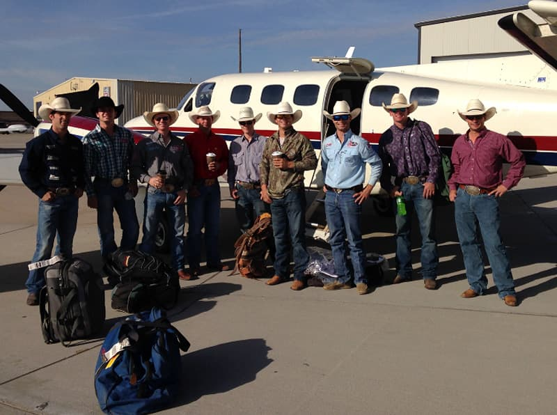 Rodeo Cowboys Traveling Together