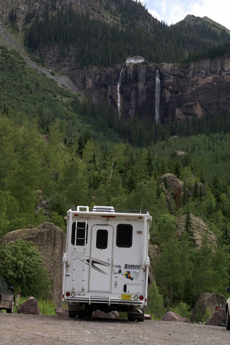 Bridal Veil Falls just outside Telluride, Colorado