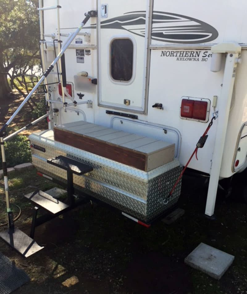 Brophy Two Step And Tool Box To Enter Camper