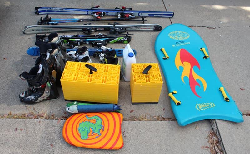 Bumper Storage Leveling Blocks Skis Surf