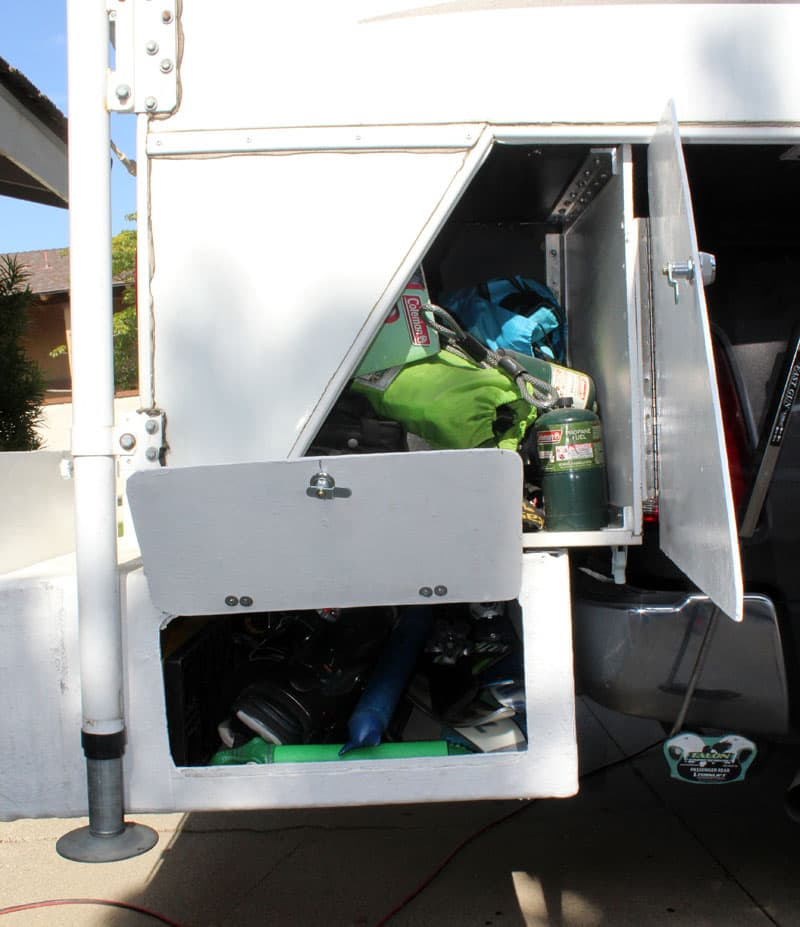 Bumper Storage Compartments