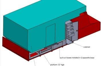 CAD drawing Unimog camper by Daniel Bass