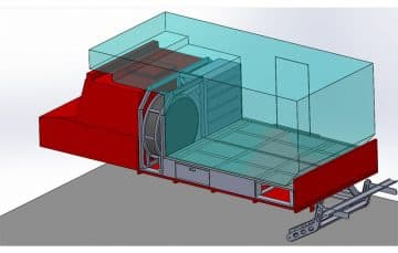 Camper on Unimog in CAD drawing