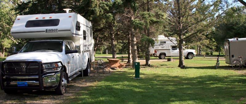 Camping in Calgary, Alberta, Truck Camper Caravan Group
