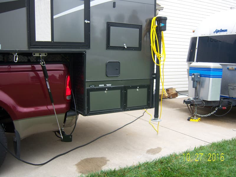 CampLite camper exterior storage added