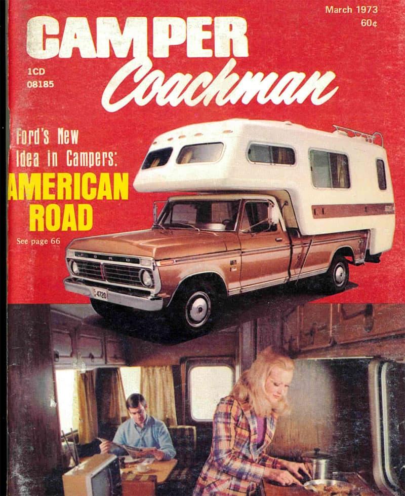 Camper Coachman Cover, March 1973