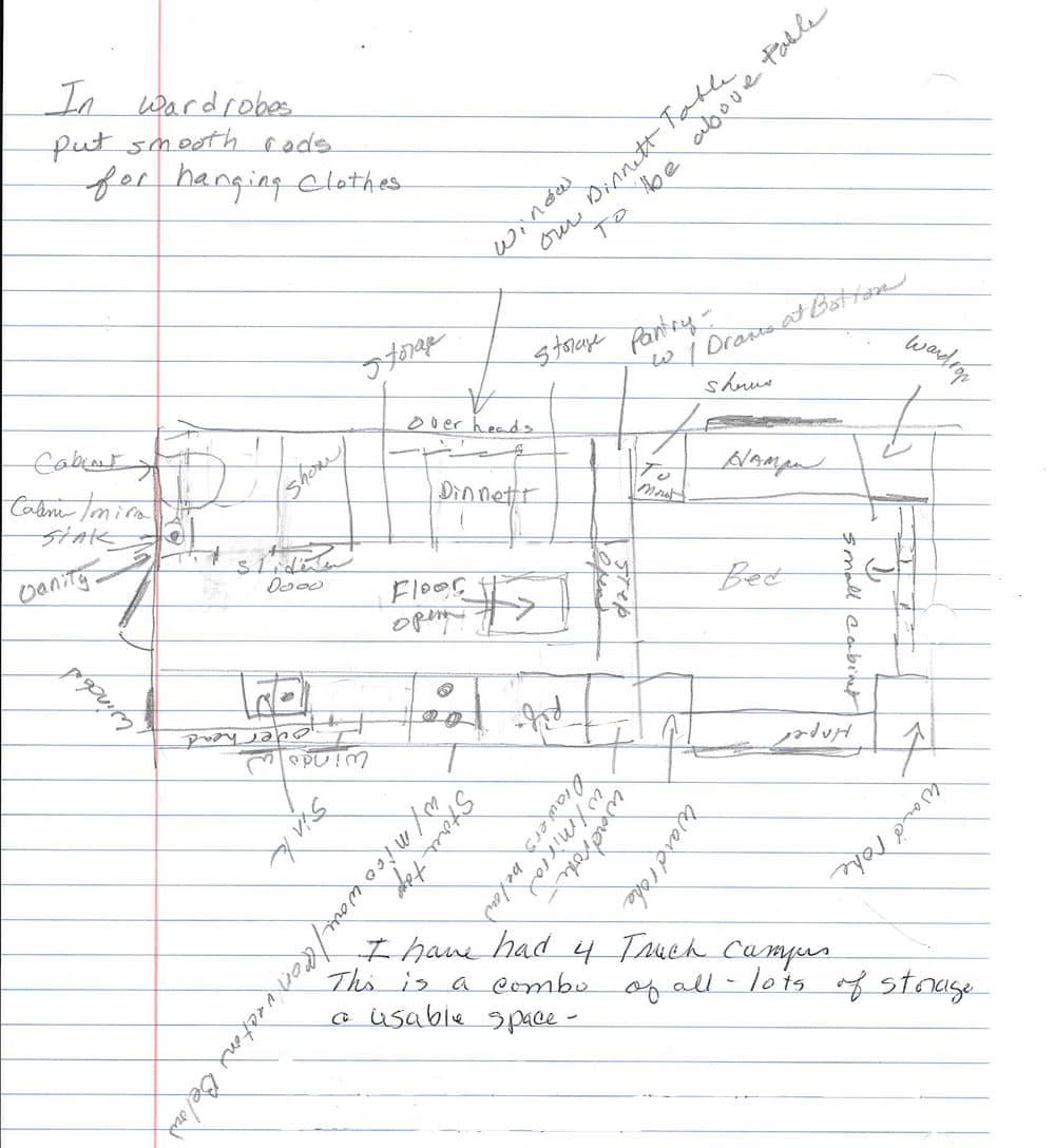 dream camper floor plan contest - part 1