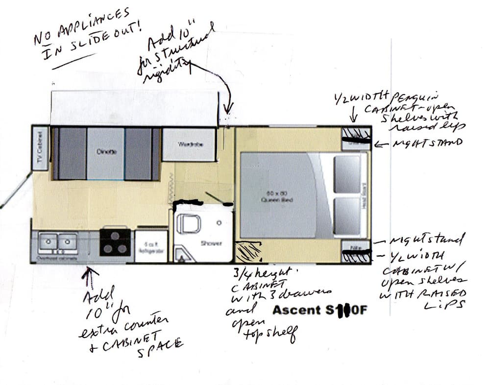 Camper deck plans bing images for Rv blueprints
