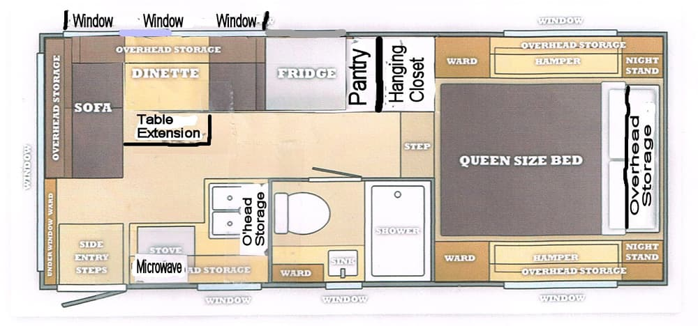 Camp Trailer Floor Plans Trailer Floor Plans Forest River