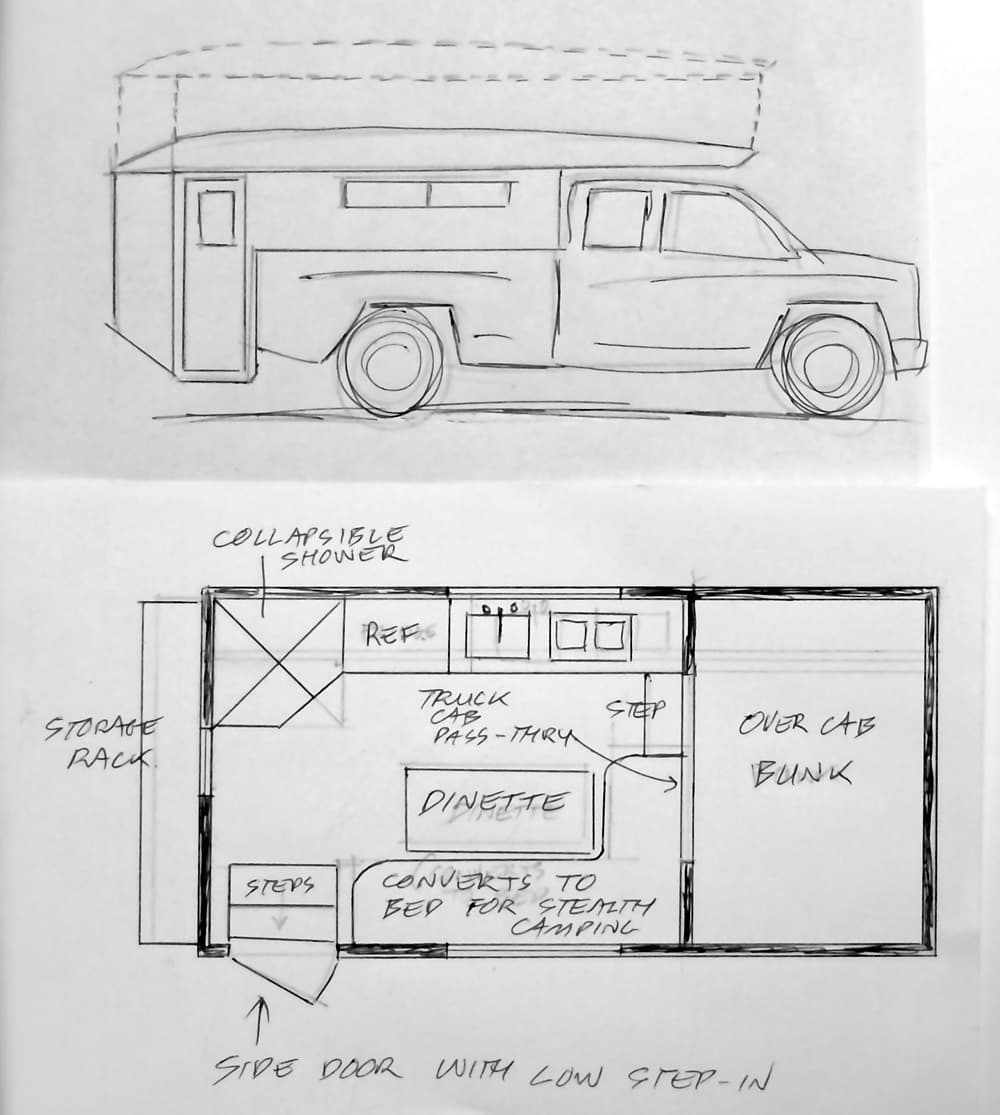 dream camper floor plan contest part 2. Black Bedroom Furniture Sets. Home Design Ideas