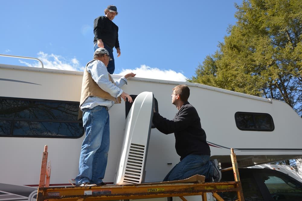 Installing An Air Conditioner On A Truck Camper 4