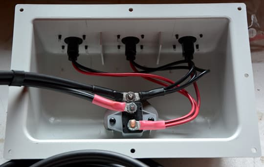 installing a solar panel on a camper solar panel install junction box wiring