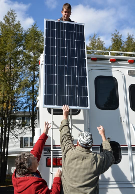 Installing A Solar Panel On A Camper