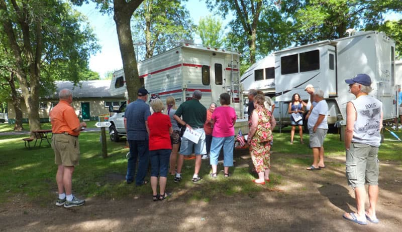 Camper open house at Minnesota Rally