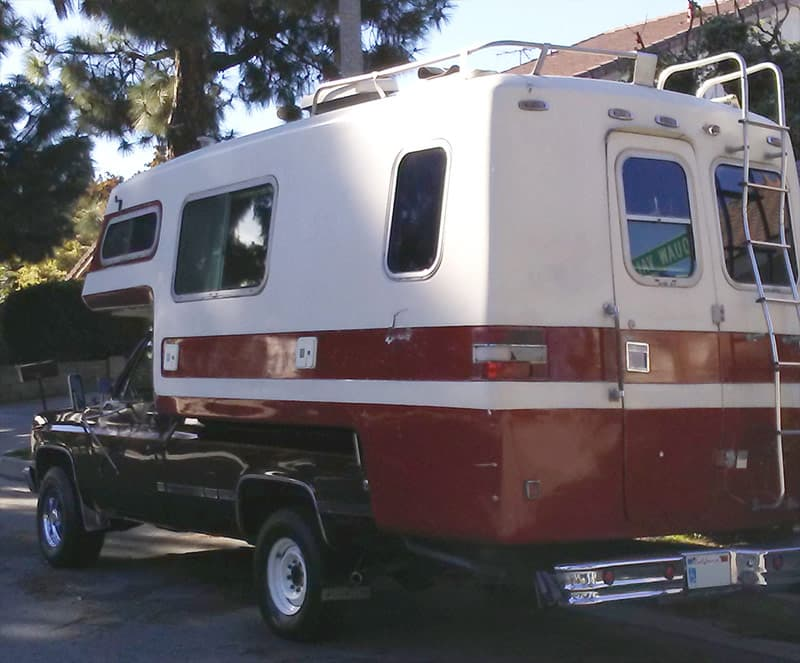Red American Road Truck Camper Restoration