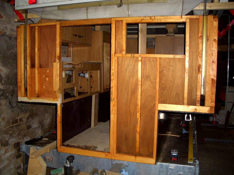 plywood outside and frame are completely new