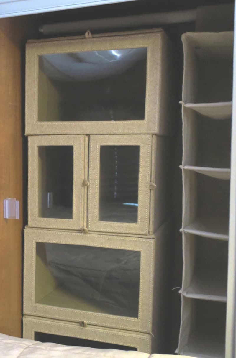 Camper Organization Overcab Closet Boxes