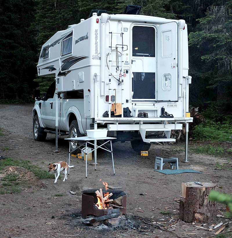 Camping Boundary Lake, British Columbia