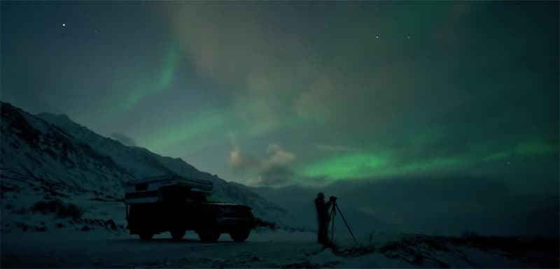 Catching the auroras in the middle of the night