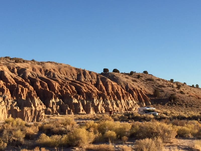 Camping At Cathedral Gorge