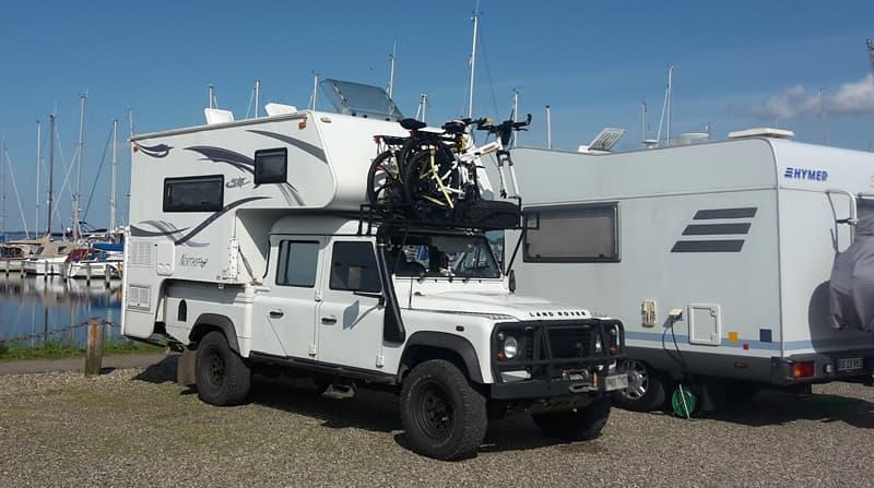 Camping At Aarosund Marina Denmark