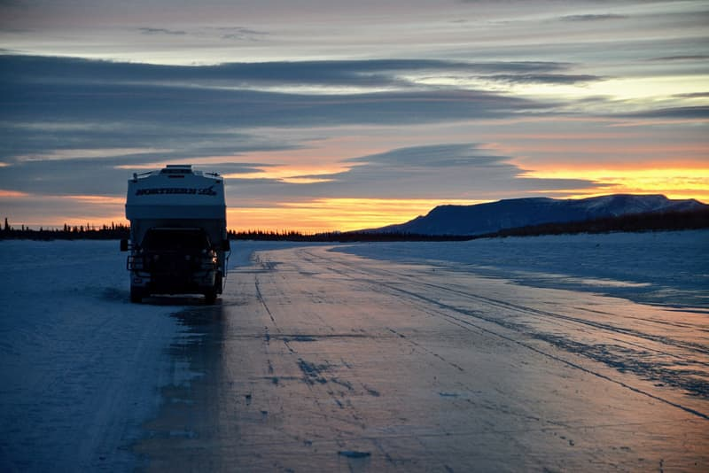 Camping on Ice Road 5 miles out of Aklavik NorthWest Territories
