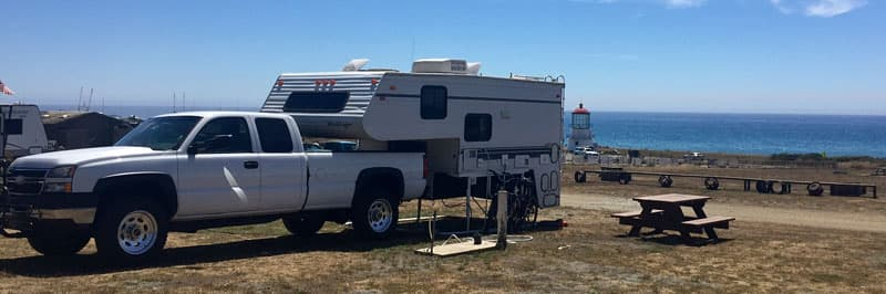 Camping On The Ocean California