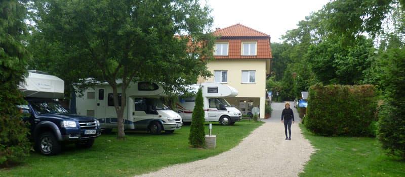 Campsite in Prague, Czech republic
