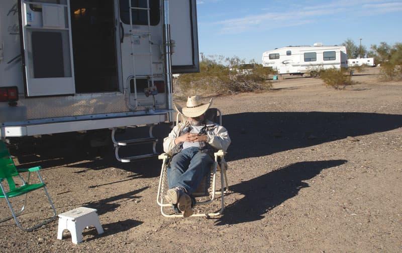Campsite In Quartzsite Setup