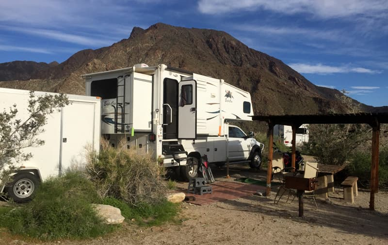 Camping with utility trailer and toys